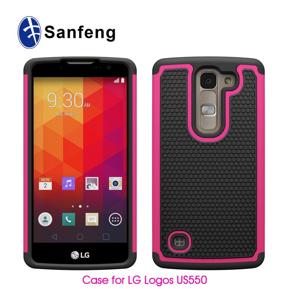 C&T heavy duty phone cover for Lg optimus Logos US550 Walmart market case