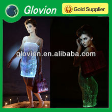 High quality luminous dress clod light women clothing LED optical fiber products