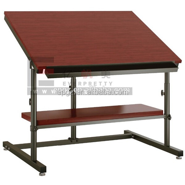 Folding School Wooden student drafting table, Modern Adjustable/Folding wooden drawing table
