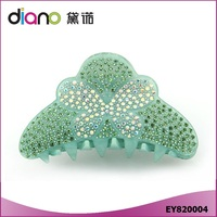 High-grate CelluloseAcetate Rhinestone Butterfly Printed Hair Claw Clip for Women