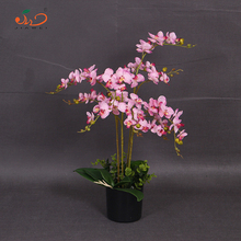 wedding flower artificial silk orchid flowers plants bonsai for table deroctiaon chinese supplier