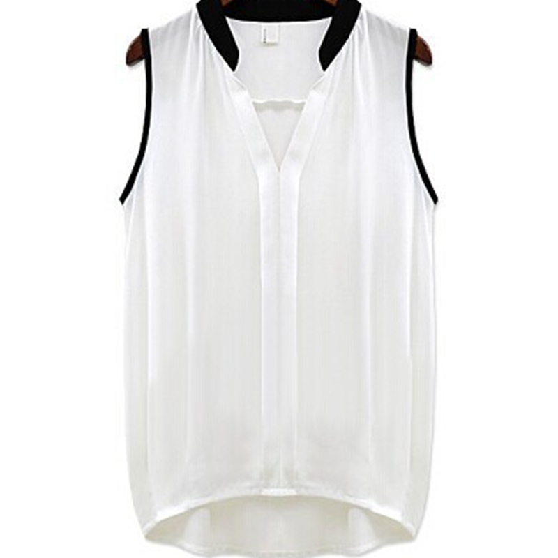 New 2015 Summer Style Plus Size Women Sexy Clothing Hot Sale Sleeveless Shirts Chiffon Blouses Ladies Tops Blusas Free Shipping