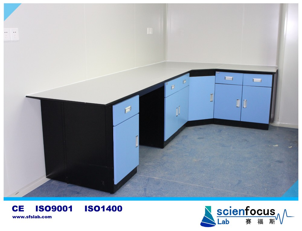 Professional lab scientific bench with lab fitting and lab sink school university lab furniture