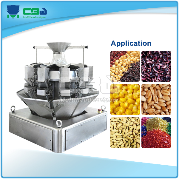 pouch making/packing machine with mini weigher for small granules
