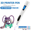 Photopolymers cools plastic ultraviolet 3d printing pen painting 3d artwork with free ink cartridge