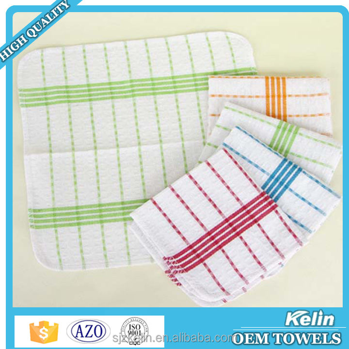 best selling products 100% cotton waffle weave 3 pack dish cloth