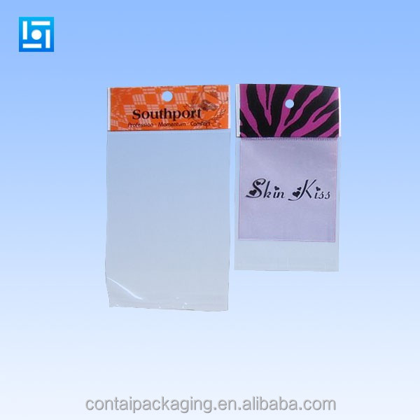 wholesale customized transparent OPP Plastic food bags for Popcorn Self Adhesive BOPP Plastic bag