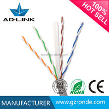Hot seller high speed cat6 UTP braided ethernet cable with CE UL