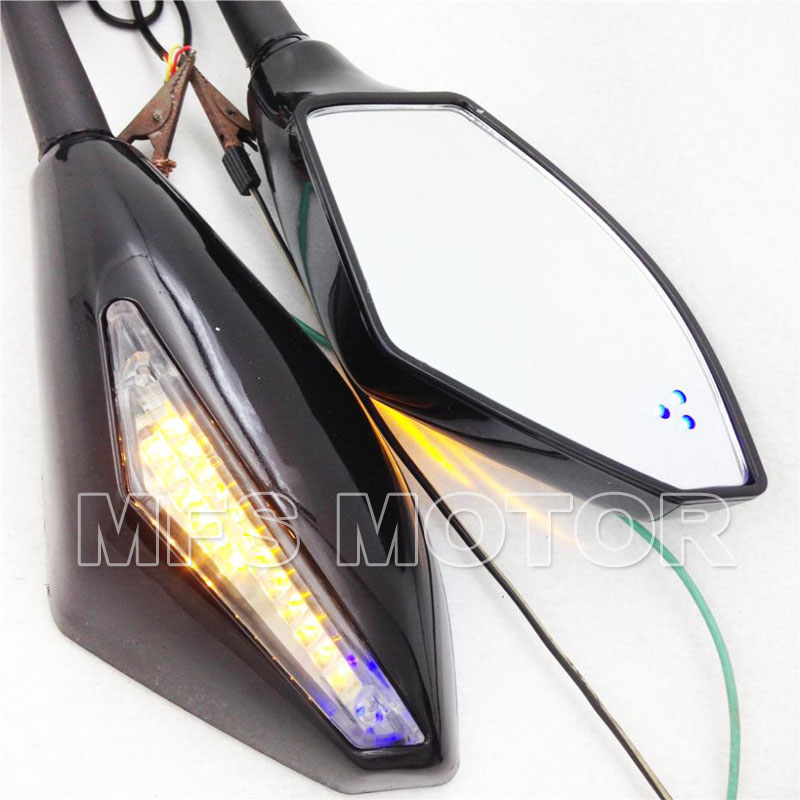 Motorcycle LED Turn Signal Mirror For Honda CBR 600 F4 F4i 900 929 954 CBR1000 125R 150R