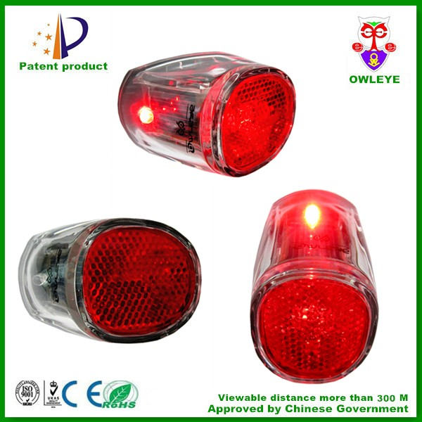 solar bicycle back blinking light with LED and reflector hot sale in Europe market