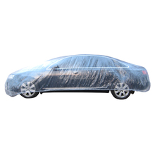 Plastic car cover for rain/dust protection