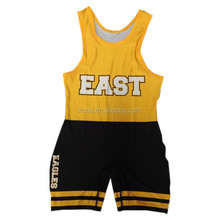 Newly design cheap wholesale cool custom sublimated wrestling singlet/weightlifting suit for sale