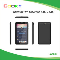 Cheapest 7 inch tablet with high resolution mtk 8312 tablet pc with 3g phone call function