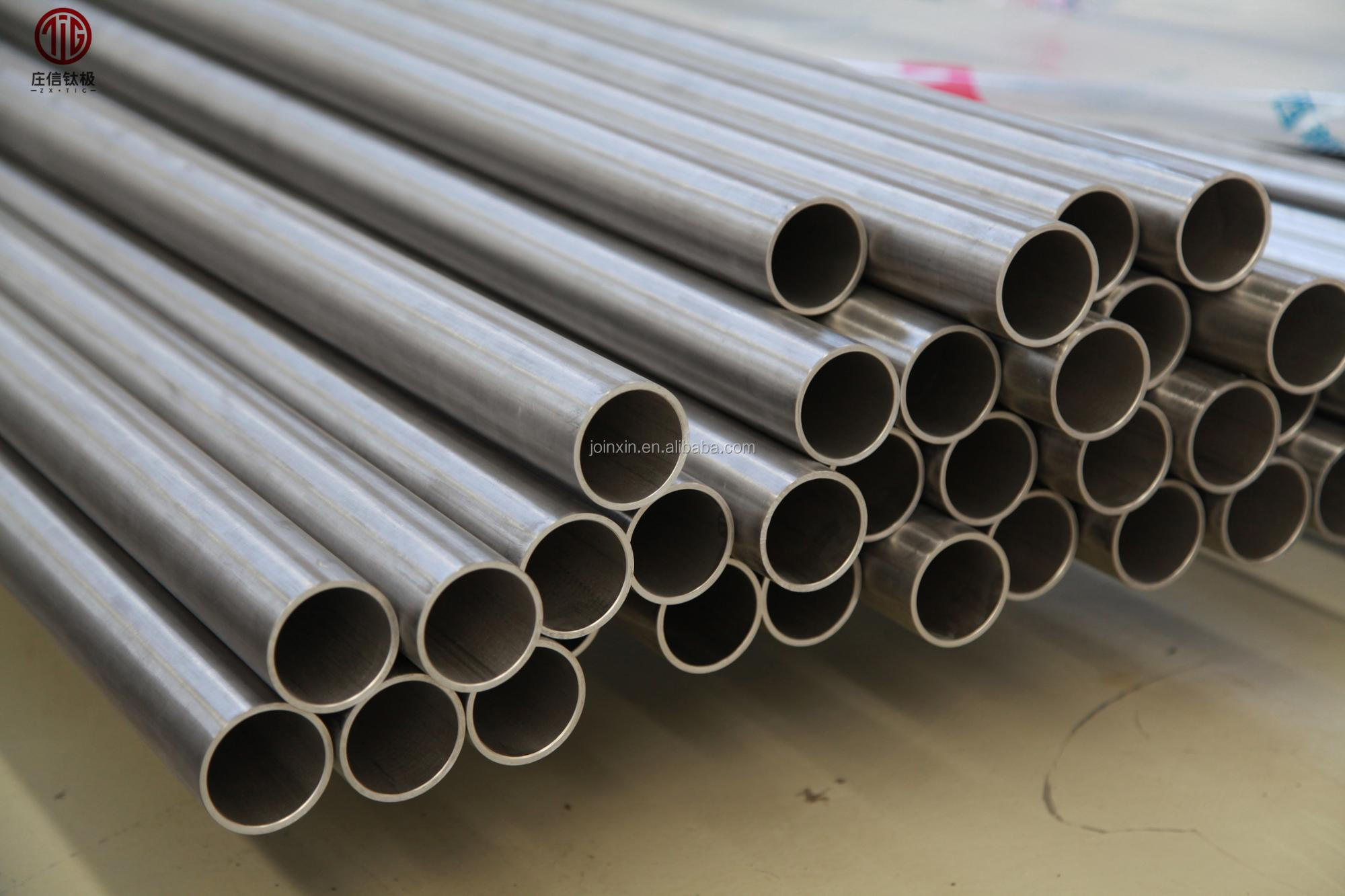 High quality motorcycle Auto GR2  Titanium Exhaust seamless welded pipe tube