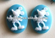 popular animal resin mickey charms, resin cameo for jewelry decoration