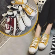 Fashion Spring Autumn Breathable Canvas Shoes Women Men Lovers Shoes White Sneakers