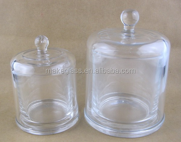 2pcs round glass bell jar chocle dome glass bell jar