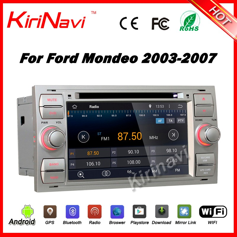 Kirinavi WC-FU7016 android 5.1 car radio gps for ford mondeo 2003-2007 navigation with sd card multimedia dvd player 1024x600 HD
