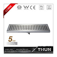 Rectangle stainless steel floor drain for lavatory or garden