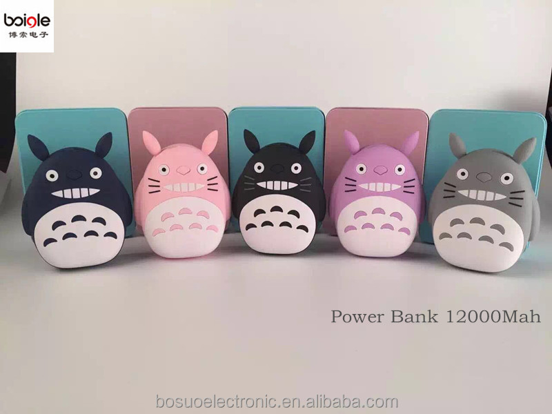 Bosuo-A03-Cute Totoro gift promotion Power Bank Portable Charger Dual Usb 10000mah Powerbank