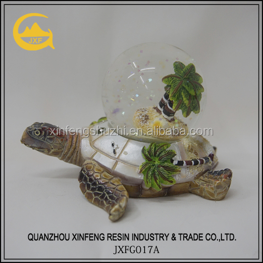 Polyresin Turtle Snow Globe/Water Globe/Snow Ball for Decoration