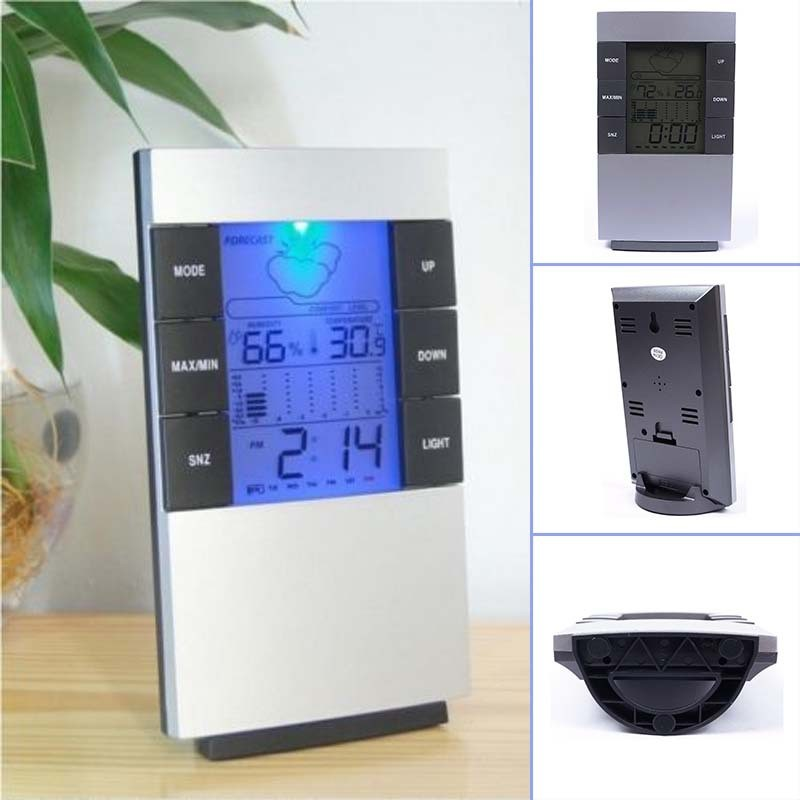 New Product LCD Indoor Term Moisture Meter Hygrometer Thermometer Clock