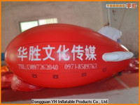 customed PVC inflatable zepplin shape helium blimp balloon with printing