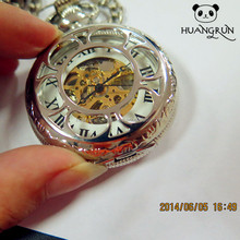 Erotic automaton skeleton mechanical pocket watch