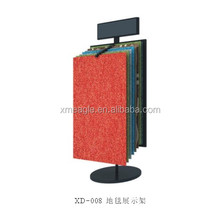 Custom wallpaper gusset plate carpet display shelf carpet rolling display rack Carpet sample display rack