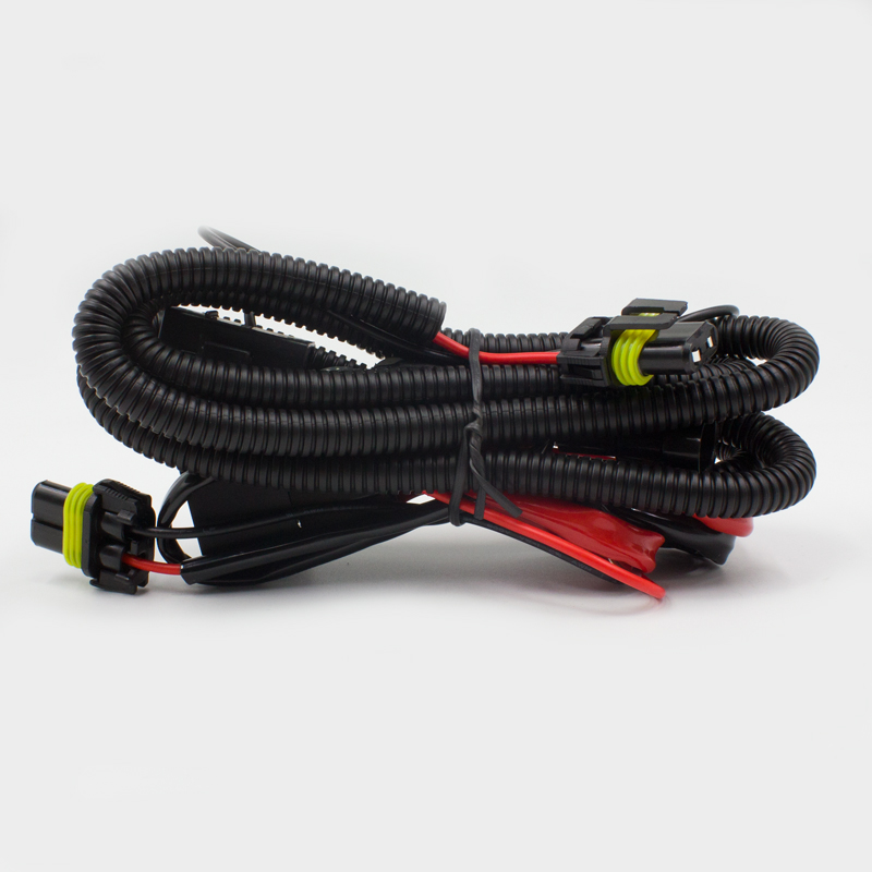 Car Auto Xenon <strong>HID</strong> headlight fog light <strong>kit</strong> relay harness H1 H3 H7 H11 9005 9006 5202 35W 55W extension cable wire harness