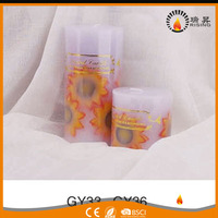 RISING wholesale aroma pillar candles scented flute lighting candles