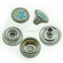 custom printed decorative pearl top metal press stud snap fasteners for clothes