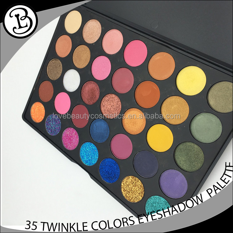 Custom eyeshadow palette high quality cosmetics of 35 color eyeshadow palette