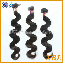 XBL popular hot selling e body wave human hair weaving