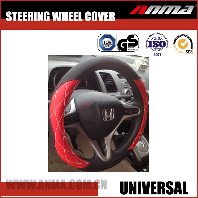 car steering wheel cover leather