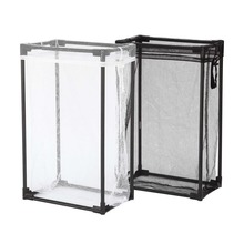 Black and White Pack of 2 Portable mesh laundry basket with Removable Mesh Laundry Bag