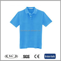 popular 100 cotton usa blue short sleeve women polo shirts