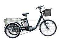 250w Lithium battery electric tricycle 3 wheel electric cargo trike for adults