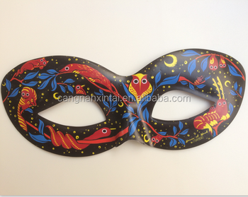 2018 China Manufacturer custom masquerade half party pvc plastic masks