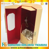 fashion and secure wine packaging box, cardboard wine box, wine glass packaging box