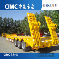 CIMC Low Deck Truck Hauler Trailers on Road
