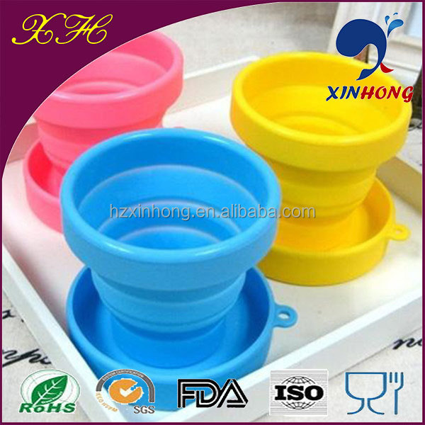 Alibaba Hot Sell Food Grade Foldable Silicone Tea Cup Cover