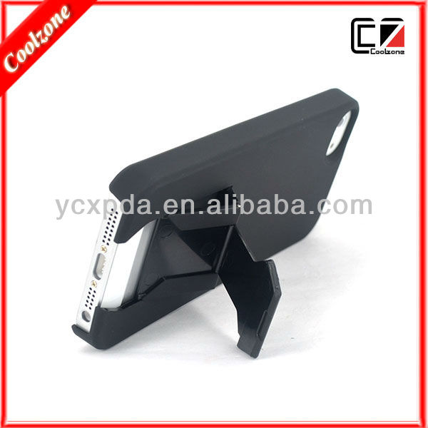 For apple iphone 5 with stand case,stick flannelette inside
