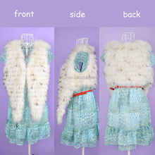 YR171 Real Raccoon Strips Cropped Fur Vest/Spring Fur Gilet