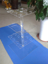 4 Tier Cube Transparent Clear Acrylic Food Stand Display