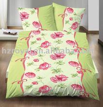 microfiber printing bedding set/ duvet cover and pillow case