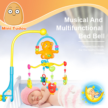Minitudou Mobile For Baby Cribs Bed Bell With Rattles Educational Music Kids Toys For Babies Newborns 0-12 Month