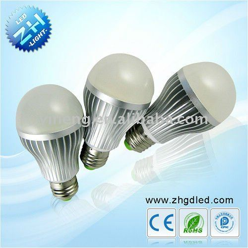 e27 high watt low power led mood bulb lamp 6w