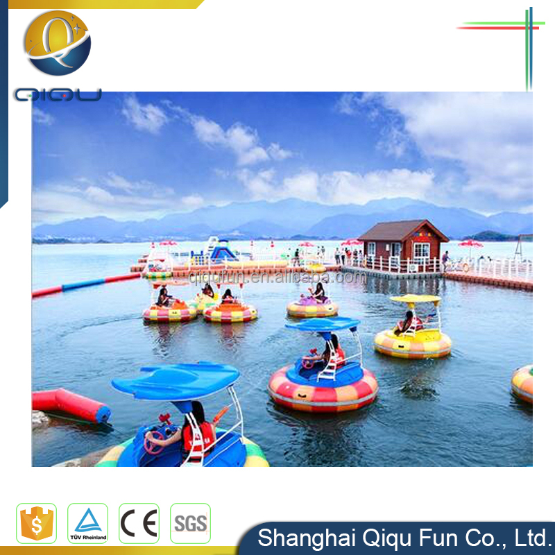 Chinese cheap laser/water gun +MP3 remote control adult water bumper boat motorized operated electric inflatable bumper boats