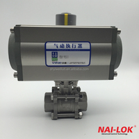 SS316 Ball valve with alumium pneumatic actuator